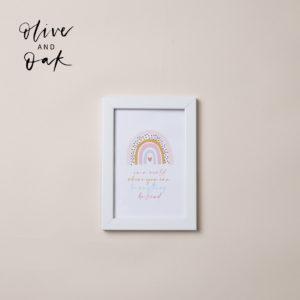 Lauren Loves Prints 'Kind' Framed Print