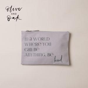OhSoBeautiful Gifts 'Be Kind' Accessory Bag